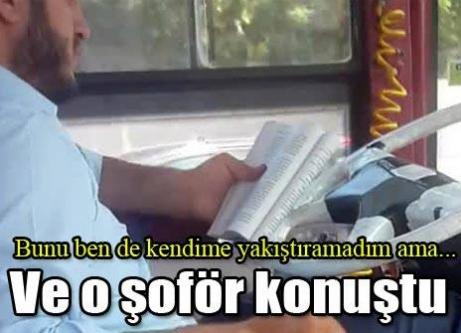 Direksiyon başında kitap okuyan halk otobüsü şoförü: Herkesten özür dilerim