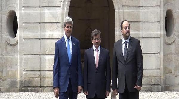 Dışişleri Bakanı Davutoğlu, Kerry İle Paris'te Bir Araya Geldi  (2)