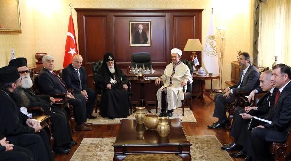 Diyanet İşleri Başkanı Görmez, Gürcistan Ortodoks Kilisesi Patriği Ll. İlia'yi Kabul Etti