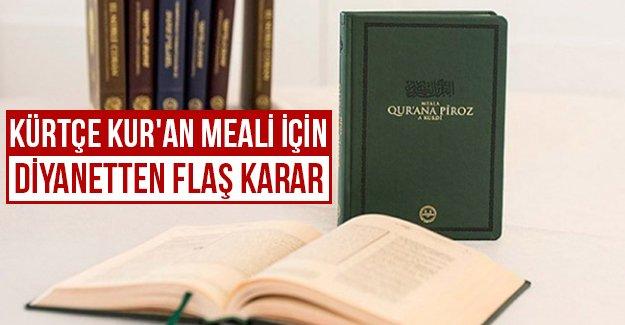 Diyanet'ten 'Kürtçe Kur'an' kararı