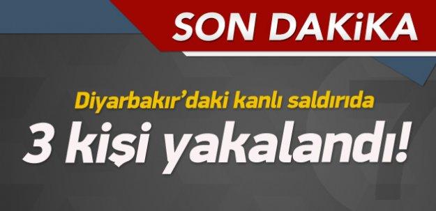 Diyarbakır'daki saldırıda 3 kişi yakalandı