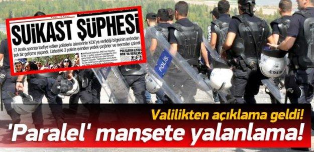 Diyarbakır valiliğinden 'suikast' habere tepki
