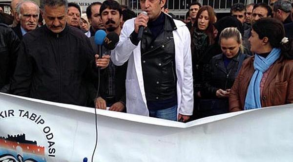 Diyarbakir'da Aile Hekimliği Protestosu