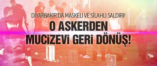 Diyarbakır'da astsubaya maskeli saldırı!