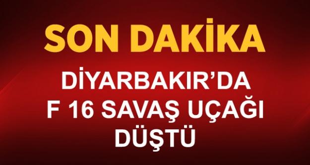 Diyarbakır'da F 16 Savaş Uçağı Düştü