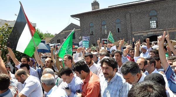 Diyarbakır'da İsrail Protesto Edildi