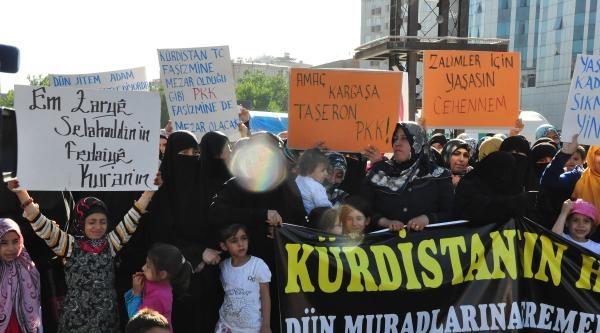 Diyarbakır'da, Pkk'yı Protesto Gösterisi