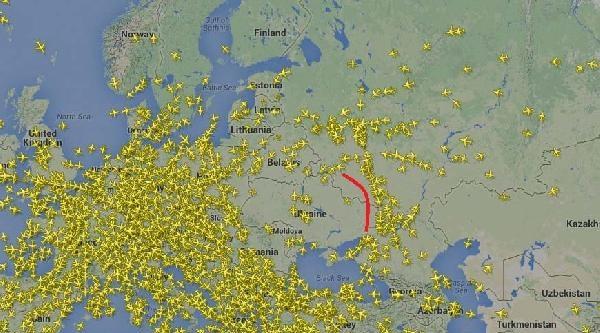Doğu Urkayna Hava Sahası  Radarda Bom Boş