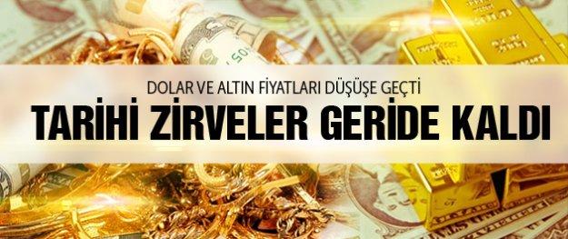 Dolar ve altın fiyatları düştü dolar ....