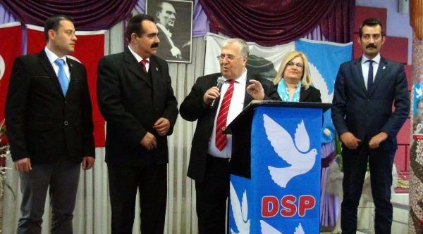 Dsp Genel Başkanı Türker, Mersin'de İktidari Ve Muhafeleti Eleştirdi