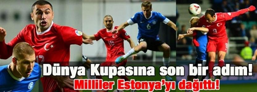 Dünya kupasına son bir adım! Milliler Estonya'yı dağıttı!
