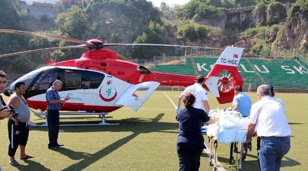 Durumu Ağırlaşan Hastaya Ambulans Helikopterli Sevk