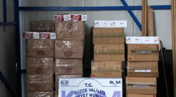 Düzce'de 20 Bin Paket Kaçak Sigara Ele Geçirildi