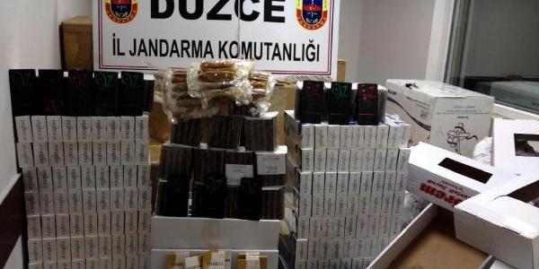 Düzce'de 38 Bin Paket Kaçak Sigara Ele Geçirildi