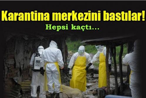 Ebola merkezine baskın