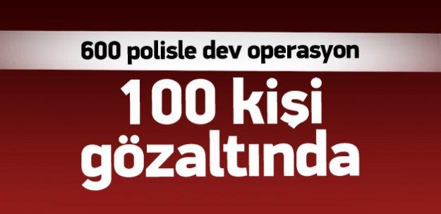 Edirne'de büyük çaplı operasyon: 100 gözaltı