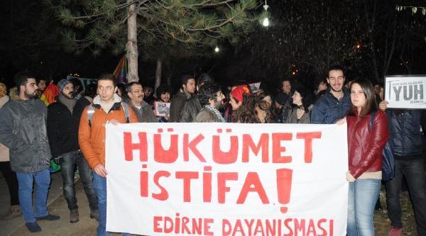 Edirne Ve Keşan'Da Yolsuzluk Protestosu