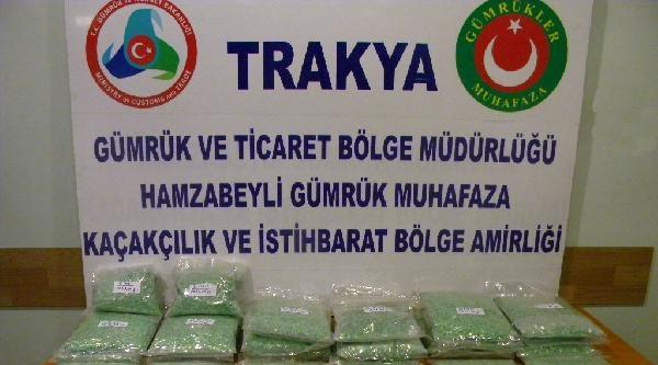 Edirne'de 120 Bin Uyuşturucu Hap Ele Geçirildi