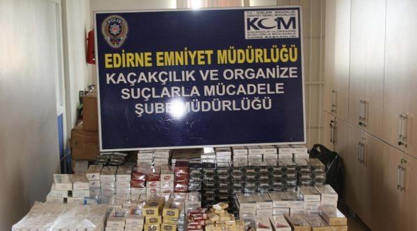 Edirne'de 12 Bin 400 Paket Kaçak Sigara Ele Geçirildi