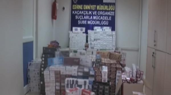 Edirne'de 18 Bin 679 Paket Kaçak Sigara Ele Geçirildi