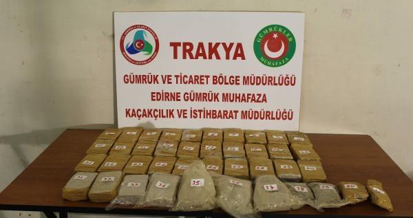 Edirne'de 20 Kilo Eroine 3 Tutuklama
