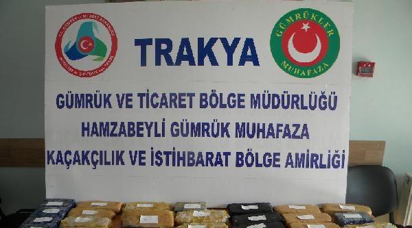 Edirne'de 23 Kilo Eroin Ele Geçirildi