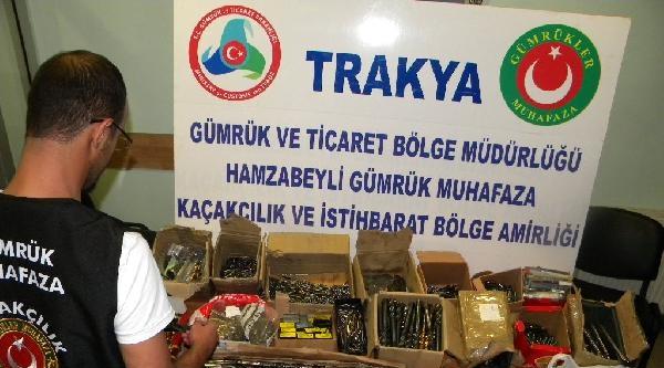 Edirne'de 9 Bin 503 Torna Ve Matkap Ucu Ele Geçirildi