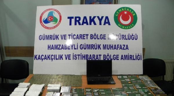 Edirne'de Kaçak Müzik Aleti, İlaç Ve Bilgisayar Parçaları Ele Geçirildi