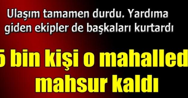 Edirne'de taşkın felaketi; bir mahallede 5 bin kişi mahsur