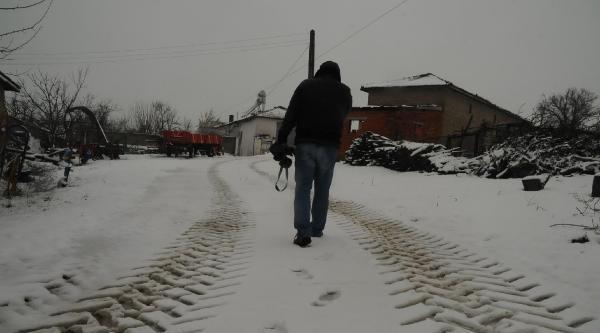 Edirne'nin Sınır Köyü Hamzabeyli Beyaza Büründü