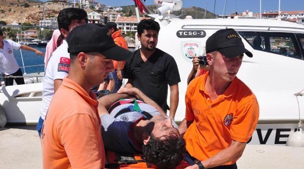 Ege Denizi'nde Kaçak Teknesinde Yangın: 1 Ölü (2)