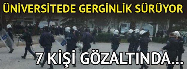 Ege Üniversitesi'nde gerginlik sürüyor: 7 kişi gözaltında
