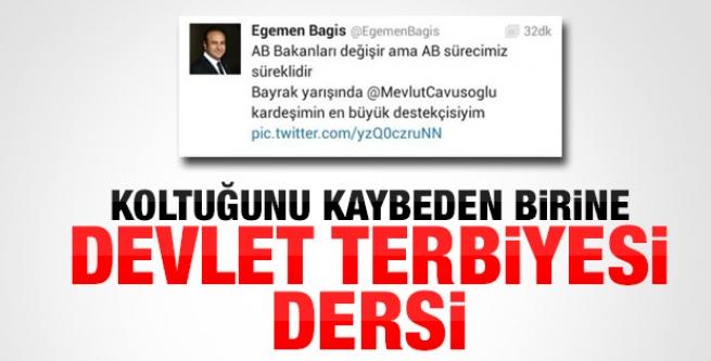 Egemen Bağış'tan devlet terbiyesi dersi!