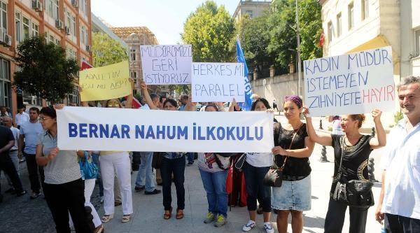 Eğitim-sen Üyeleri Puanlama Sistemini Valilik Önünde Protesto Etti