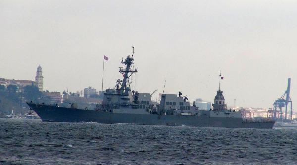 Ek Fotoğraflar - Amerikan Savaş Gemisi İstanbul Boğazı'nda
