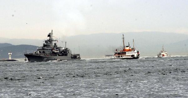 Ek Fotoğraflar /istanbul Boğaz'ında Savaş Gemisi Haraketliliği; Ukrayna Savaş Gemisi İstanbul Boğazından Geçiş Yaptı