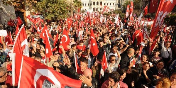 Ek Fotoğraflar - Şişhane'de Cumhuriyet Yürüyüşü