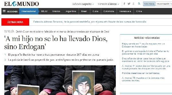 El Mundo: Evladımı Tanrı Değil Erdoğan Aldı