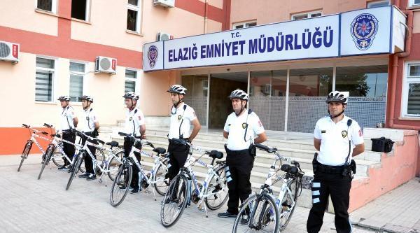 Elazığ'da Bisikletli Martı Polis Timi