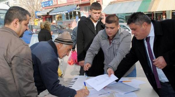 Elmadağ'da 'taş Ocaği'na Hayir' Imza Kampanyasi