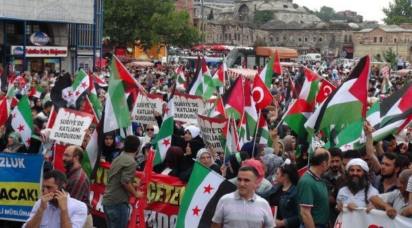 Eminönü Meydanı'nda İsrail Protestosu