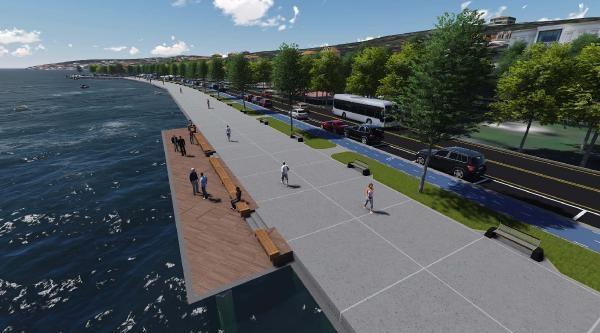 Emirgan Sahil Yolu Genişletiyor, Boğaz'a Yürüme Ve Bisiklet Yolu Geliyor