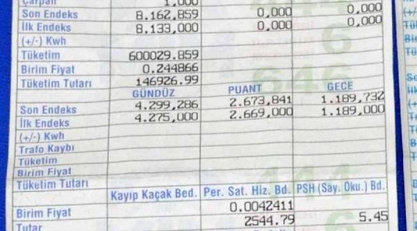 Emlakçiya 216 Bin Liralik Elektrik Faturasi Şok Etti