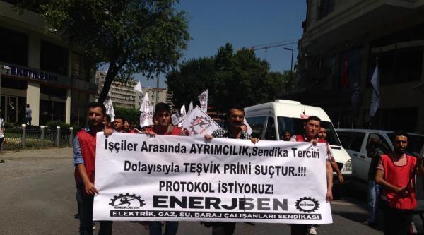Enerji-sen'den Bedaş Önünde Protesto