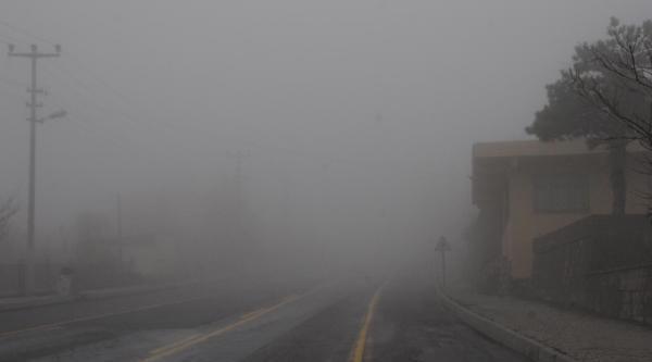 Erciyes Dağı Yolunda Yoğun Sis