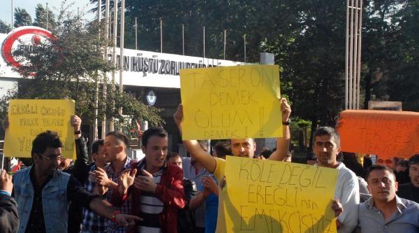 Erdemir'de Taşeron İşçi Eylemi (3)