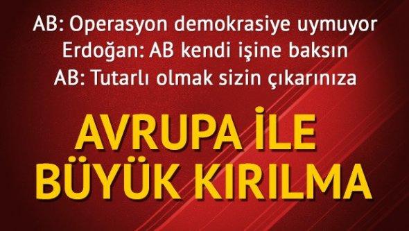 Erdoğan: AB işine baksın