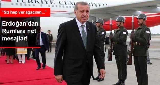 Erdoğan: Geçmişteki Rum Vatandaşlarına Açığız Ama Sizde Al Deyin Biraz