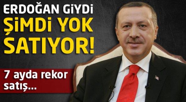 Erdoğan giydi şimdi yok satıyor!