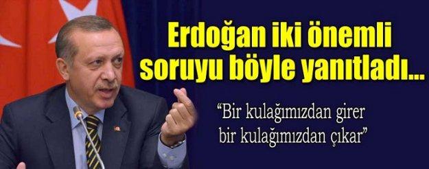 Erdoğan havalimanında iki önemli soruya yanıt verdi